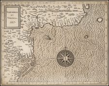 New England and Mid-Atlantic Map By Cornelis van Wytfliet
