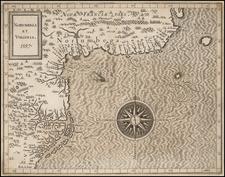 New England and Mid-Atlantic Map By Cornelis van Wytfliet