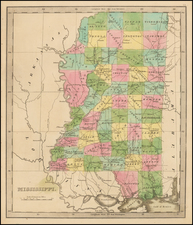 South and Mississippi Map By Jeremiah Greenleaf