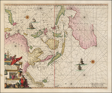 China, Southeast Asia, Philippines, Pacific and Australia Map By Frederick De Wit