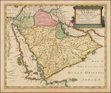 Arabian Peninsula Map By Pierre Mariette - Nicolas Sanson