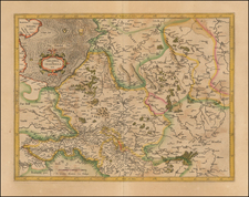 Netherlands Map By  Gerard Mercator