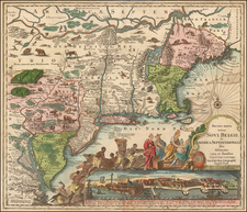 New England, Mid-Atlantic and Canada Map By Tobias Conrad Lotter