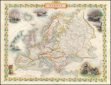Europe and Europe Map By John Tallis