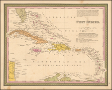 Caribbean Map By Thomas, Cowperthwait & Co.