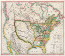 United States, Southeast, Texas, Midwest, Plains, Rocky Mountains, North America and California Map By Robert Wilkinson / Ebenezer Bourne