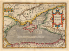 Ukraine, Romania, Turkey and Turkey & Asia Minor Map By Abraham Ortelius