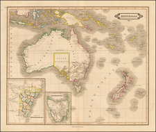 Australia and New Zealand Map By Daniel Lizars