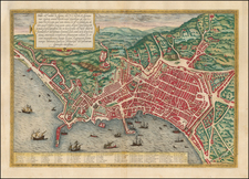 Italy and Southern Italy Map By Georg Braun  &  Frans Hogenberg
