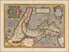 Italy and Southern Italy Map By Abraham Ortelius