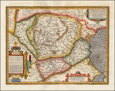 Romania and Balkans Map By Abraham Ortelius