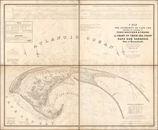 A Map of The Extremity of Cape Cod Including the Townships of Provincetown, Truro: with A Chart of Their Sea Coast and of Cape Cod Harbour, State of Massachusetts. Executed under the Direction of Major J.D. Graham U.S. Top. Engr. During portions of the years 1833, '34 & 35. By United States Bureau of Topographical Engineers