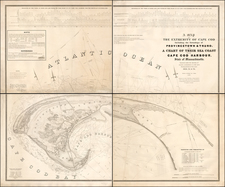 New England and Massachusetts Map By United States Bureau of Topographical Engineers