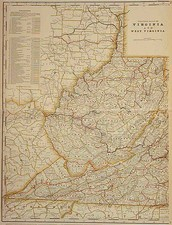 Mid-Atlantic and Southeast Map By George F. Cram
