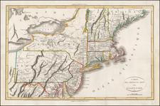 New England and Mid-Atlantic Map By John Marshall