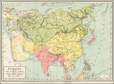 Asia, Asia and Russia in Asia Map By United States GPO