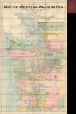 Washington Map By W. H.  Pumphrey
