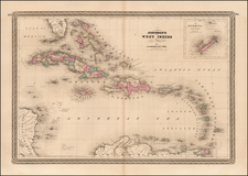 Caribbean Map By Alvin Jewett Johnson