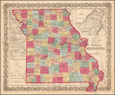 Midwest and Plains Map By Joseph Hutchins Colton
