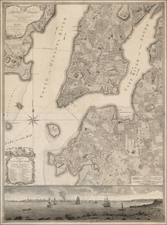 New York City and Mid-Atlantic Map By Bernard Ratzer