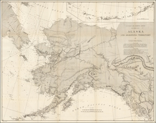 Alaska Map By U.S. Coast & Geodetic Survey