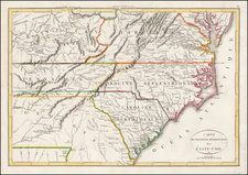 New England and Mid-Atlantic Map By Francois A.F. La Rochefoucault-Liancourt