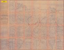 China and India Map By Mandala Graphic Art