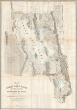 Southwest and Rocky Mountains Map By Howard Stansbury