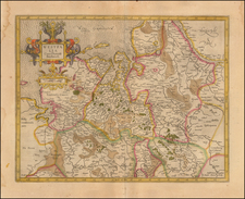 Netherlands and Germany Map By  Gerard Mercator