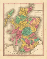 Scotland Map By Anthony Finley