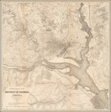 Washington, D.C., Southeast and Midwest Map By United States GPO