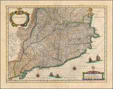 Catalonia  By Willem Janszoon Blaeu