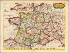 France Map By Nicolas Sanson