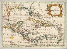 Florida, Caribbean and Central America Map By Scots Magazine / Andrew Bell