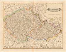 Austria and Czech Republic & Slovakia Map By Daniel Lizars