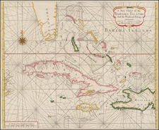 Florida and Caribbean Map By William Mount  &  Thomas Page