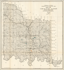 Plains, Oklahoma & Indian Territory and Southwest Map By United States Department of the Interior