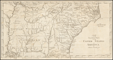 South and Southeast Map By Jedidiah Morse / Abraham Bradley