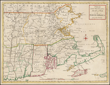New England, Maine, Massachusetts, New Hampshire, Rhode Island and Vermont Map By Universal Magazine