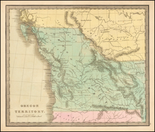 Oregon, Washington and Canada Map By Jeremiah Greenleaf