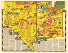 Southwest and Rocky Mountains Map By R.T. Aitchison