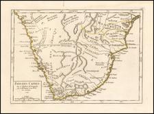 South Africa Map By Gilles Robert de Vaugondy
