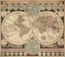 World and California as an Island Map By Adam Friedrich Zurner