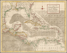 Florida, Southeast and Caribbean Map By Thomas Kitchin / London Magazine