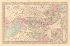 New England Map By Samuel Augustus Mitchell Jr.
