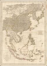 China, Japan, Korea, India, Southeast Asia and Philippines Map By John E. Harrison
