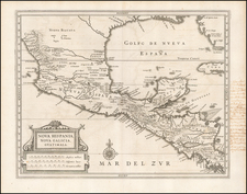 Florida, Mexico and Central America Map By Joannes De Laet