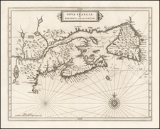 New England and Canada Map By Joannes De Laet
