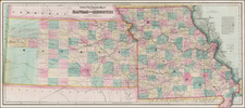 Plains, Kansas and Missouri Map By G.W.  & C.B. Colton