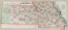 Plains, Kansas and Missouri Map By G.W.  & C.B. Colton